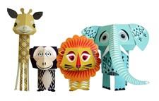 Pappersfigurer, The Wild bunch, Eco, Mibo