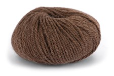 Knit At Home Chunky Alpaca Wool Garn Alpacka Ull Mix 50 g Brun Melange 608