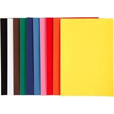Velourpapper, A4 21x30 cm, 140 g, 50 ark, mixade färger