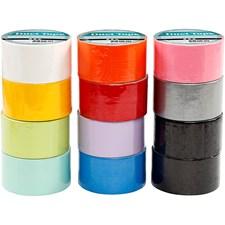 Gaffatejp 12x5 m mixade färger