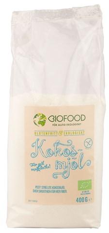 Biofood Kokosmjöl 400 g Ekologisk