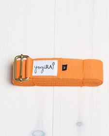 Yogabälte, ekologisk bomull, 305 cm - yogiRAJ - Orange