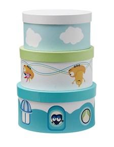 Pappboxar rund Babblarna 3-set, Kids Concept