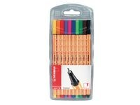 Ritpenna Fineliner Stabilo Point 88 Multi 10-pack