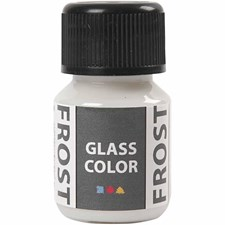 Glass Color Frost, 35 ml, hvit