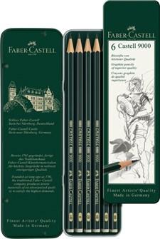 Castell 9000 Blyertspenna Metalletui/6 S