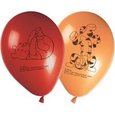 Nalle Puh Ballonger, 8 st, Orange/Röd