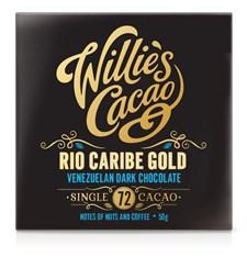 Willies Cacao Chokladkaka Rio Caribe Gold 72% 50 g