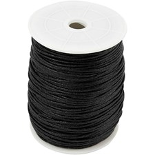 Puuvillanyöri, paksuus 2 mm, 100 m, musta
