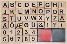 Stämplar Bokstäver och Siffror i Trä 20x20mm