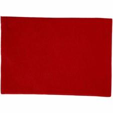 Hobbyfilt, A4 21x30 cm, tykkelse 1,5-2 mm, 10 ark, rød