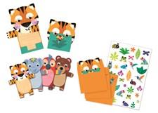Inbjudningskort, Wild animals (8 st), Djeco