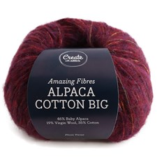 Adlibris Alpaca Cotton Big 50g Plum Twist A673
