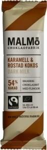 Malmö Chokladfabrik Malmö Bars Choklad Karamell & Rostad Kokos Dark Milk 54% 25 g (14551)