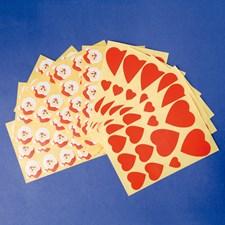 Tomtar & Hjärtan stickers 178st