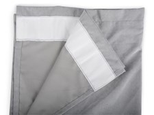 Form Living Gardin Velvet med veckband Polyester 300x140cm Grå