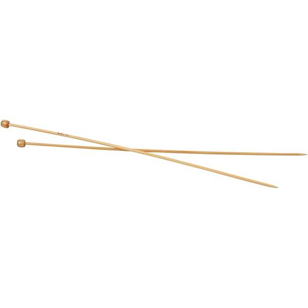 Strikkepinne, nr. 3,5 , L: 35 cm, 1par
