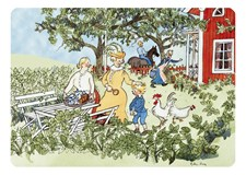 Emil i trädgården underlägg