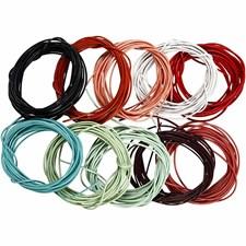 Lädersnöre 1 mm x 3 m 10 Färger