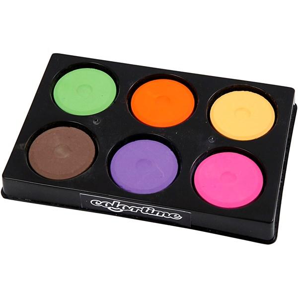 Vattenfärg Palett dia 44 mm Kompletterande Färger 6 st