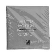 ERNST Servetter Med Två Citat Rummet/Tid 20 st Dia 33 cm Grå
