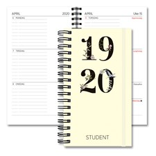 Studentkalender 19/20 GRIEG XL Spiral Kartong