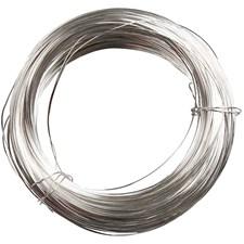 Metallilanka, paksuus 1 mm, hopeanväriset, 4m