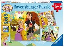 Pussel 3x49 bitar, Rapunzel, Ravensburger