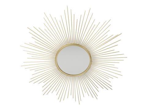 Form Living Väggspegel Solfjäder Guld 61.5x1.5cm Guld - speglar