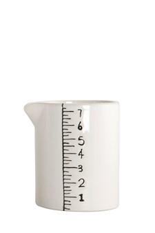 House Doctor Measure Kannu 10 cm Keraaminen Valkoinen