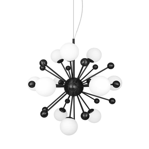 Inget (Storm) Globen Lighting Copernicus Taklampa B73 D73 H75 14xG9 Svart/Vit