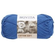 Cotton Soft Bomullgarn 50 g himmel 124 Novita