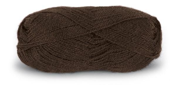 Du store Alpakka Tynn 50 g Mørk Brun 108