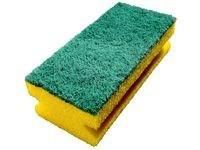 Rengöringssvamp med Grepp och Slipmedel 140x70 mm Gul/Grön