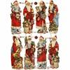 Kiiltokuvat, arkki 16,5x23,5 cm, joulupukki, 3ark