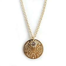 Spinn small crystal Halsband, Gold 42 cm