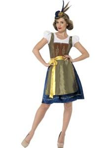 Tradisjonell Bayersk Oktoberfest Heidi Drakt Deluxe