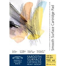 Skissblock Cartridge Sketch Pad Winsor & Newton A3 220 g