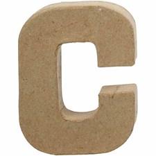 Bokstäver av Papier-Maché C 10 cm 1 st
