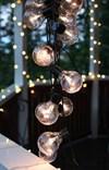 Ljusslinga Party light 450cm 16L klara lampor, svart kabel
