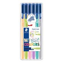 Triplus® color 6-pack, i STAEDTLER-box, 1 mm fiberspets. Pastel