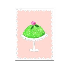 Gratulationskort 6x8 cm Prinsesstårta