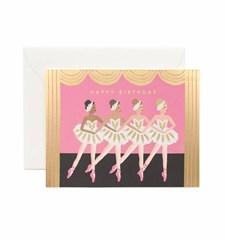 Gratulationskort med Kuvert A5 Birthday Ballet 1 st