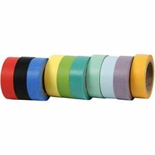 Värilliset teipit, lev. 15 mm, 10x10 m