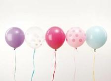 Ballonger, Rico, 30 cm, Pastellmix, 12 st.