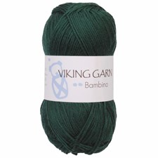 Bambino Garn Bomullsmix 50g Mörkgrön 433 Viking Garn