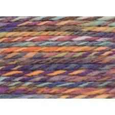 Rico, Fashion Colour Twist Chunky, Garn, Ullmiks, 50 g, Purple-Yellow 003