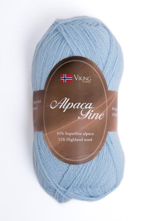 Viking of Norway Alpaca Fine 50 gr vaaleansininen
