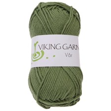 Vår Garn Bomull 50g Grön 432 Viking Garn