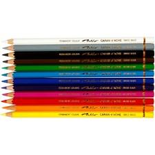 Pablo-värikynät, 3,8 mm, pit. 17 cm, 12 kpl, värilajitelma